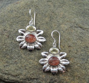 Sunstone & Citrine Earrings