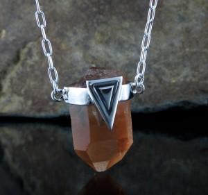 Tangerine Quartz Necklace