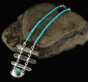 Arizona Turquoise & Natural DT Clear Quartz N/L