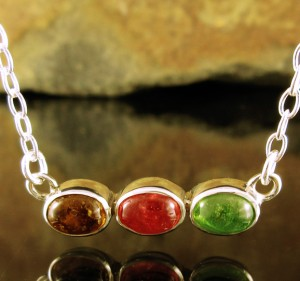 Bi-colour Tourmaline Necklace Med