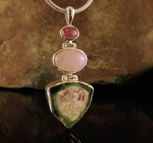 Watermelon Tourmaline & Morganite Pdt Lge