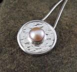 Apricot Pearl Pendant