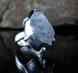 Silver Druzy Quartz Ring