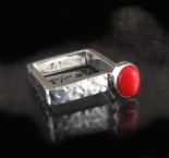 Red Coral Ring Sml