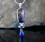 Boulder Opal & Hematite & Lapis Lazuli Pdt L