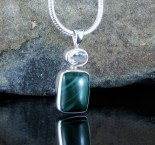White Quartz & Malachite Pdt Sml