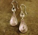 White Topaz & Kunzite Earrings