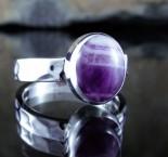 Chevron Amethyst Ring