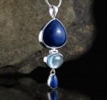 Lapis Lazuli & Blue Topaz Pdt Lge