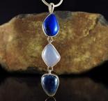 Lapis Lazuli & Blue Chalcedony & Blue Apatite Pdt Lge