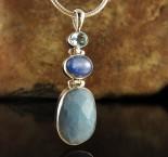 Blue Topaz & Kyanite & Aquamarine Pdt Lge