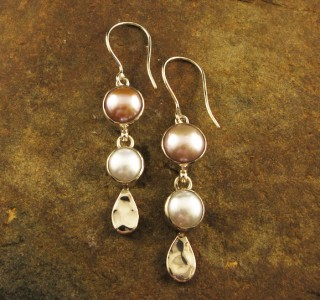 Multi- coloured Pearl Earrings
