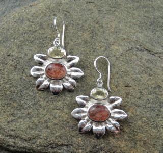 Sunstone & Citrine Earrings