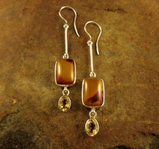 Mookaite & Citrine Earrings