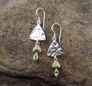 Gaspeite & Peridot Earrings