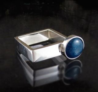 Blue Apatite Ring
