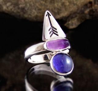 Iolite & Amethyst Ring