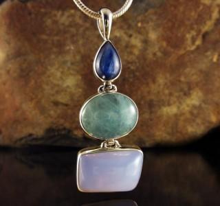 Kyanite & Aquamarine & Blue Chalcedony Pdt Lge