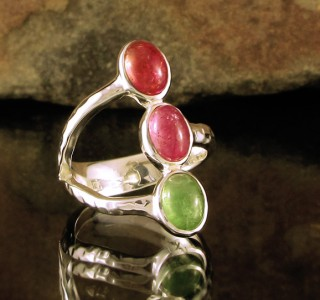 Multi-colour Tourmaline Ring