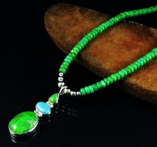 Mojave Turquoise & Amazonite Necklace