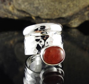 Hessonite Garnet Ring