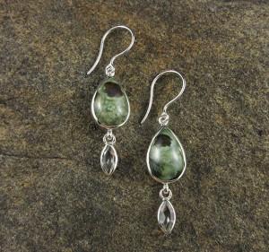 Rainforest Rhyolite & Praisiolite Earrings