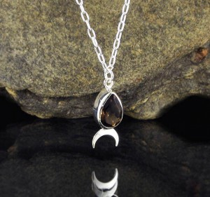 Smoky Quartz 'Moon' Necklace