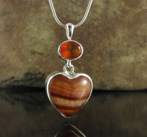 Carnelian & Banded Agate Pdt Lge