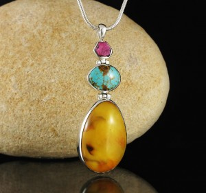 Ruby & Turquoise & Amber Pdt Lge