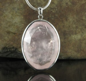Rose Quartz Pendant Lge