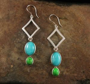 Amazonite & Mojave Turquoise Earrings