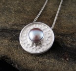 Lilac Pearl Pendant Med