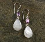 Amethyst & Mother of Pearl Earrings
