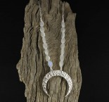 Rainbow Moonstone 'Moon' Necklace