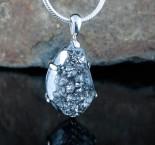 Silver Druzy Quartz Pdt Med