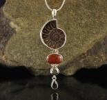 Ammonite & Hessonite Garnet & Pyrite & Smoky Quartz Pdt Lge