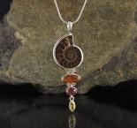 Ammonite & Hessonite Garnet & Tourmaline & Citrine Pdt Lge