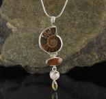 Ammonite & Hessonite Garnet & Morganite & Citrine Pdt Lge