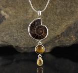 Ammonite & Tiger Eye & Citrine Pdt Med