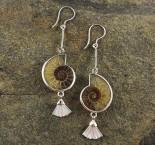 Ammonite & Mother of Pearl Earrings
