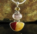 Citrine & Rose Quartz & Mookaite Pdt Med