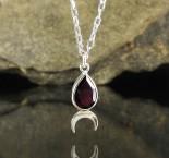Garnet 'Moon' Necklace