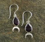 Garnet 'Moon' Earrings