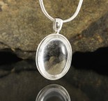 Clear Quartz Pendant Med