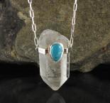 Clear Quartz & Turquoise Necklace