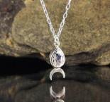 White Topaz 'Moon' Necklace