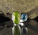 Vesuvianite & 'Ocean' Kyanite  Ring