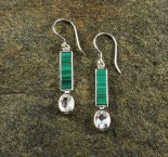 Malachite & White Topaz Earrings