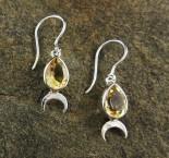 Citrine 'Moon' Earrings