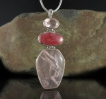 Rhodochrosite & Rose Quartz Pdt Lge